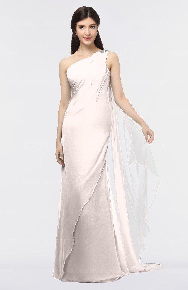 eb53ef0c91d ColsBM Helena Light Pink Elegant Asymmetric Neckline Sleeveless Zip up  Floor Length Bridesmaid Dresses
