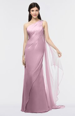 ColsBM Helena Lilas Elegant Asymmetric Neckline Sleeveless Zip up Floor Length Bridesmaid Dresses