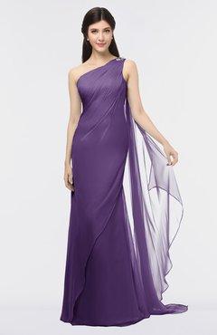 ColsBM Helena Petunia Elegant Asymmetric Neckline Sleeveless Zip up Floor Length Bridesmaid Dresses