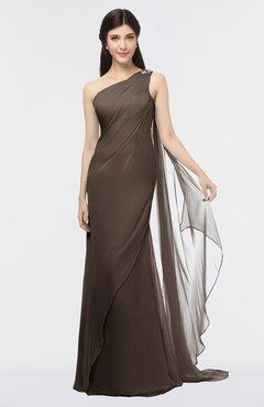ColsBM Helena Puce Elegant Asymmetric Neckline Sleeveless Zip up Floor Length Bridesmaid Dresses