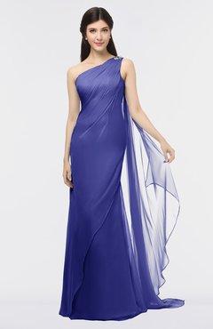ColsBM Helena Purple Elegant Asymmetric Neckline Sleeveless Zip up Floor Length Bridesmaid Dresses
