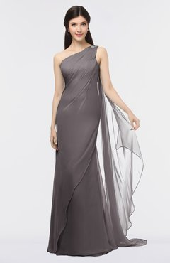ColsBM Helena Sparrow Elegant Asymmetric Neckline Sleeveless Zip up Floor Length Bridesmaid Dresses