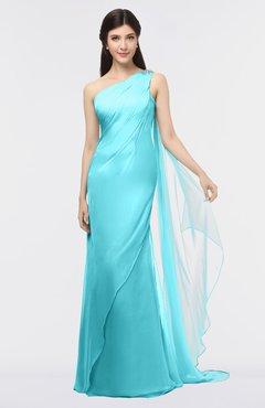 23c638bec8 Blue Radiance · ColsBM Helena Blithe Elegant Asymmetric Neckline Sleeveless  Zip up Floor Length Bridesmaid Dresses