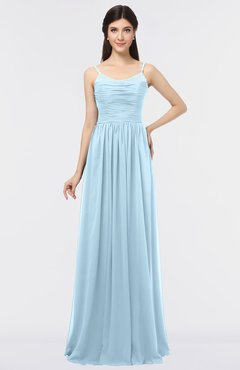 6d1961af67b7 ColsBM Abril Ice Blue Classic Spaghetti Sleeveless Zip up Floor Length  Appliques Bridesmaid Dresses