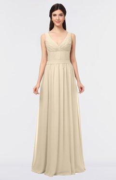 5c270d75b7b1 ColsBM Jimena Novelle Peach Simple A-line V-neck Sleeveless Ruching  Bridesmaid Dresses