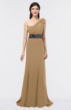 38ddb7e28d31 ColsBM Aranza Indian Tan Elegant A-line Sleeveless Zip up Sweep Train Bridesmaid  Dresses