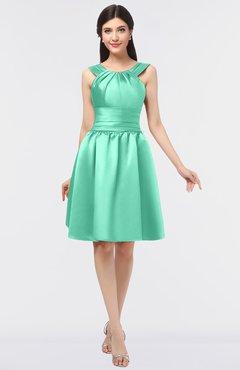 c2f952ebeea3 ColsBM Leila Mint Green Mature A-line Scoop Sleeveless Ruching Bridesmaid  Dresses