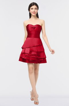 Colsbm Caylee Barbados Cherry Y Strapless Sleeveless Zip Up Plainness Bridesmaid Dresses