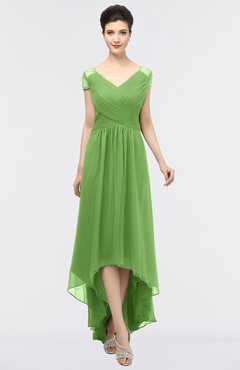 colsbm juliana clover elegant v neck short sleeve zip up appliques bridesmaid dresses - Clover Color