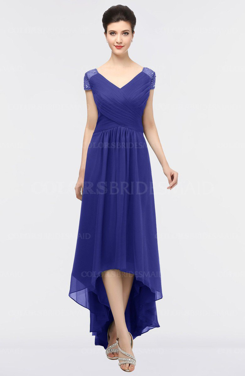 Purple elegant v neck short sleeve zip up appliques bridesmaid elegant v neck short sleeve zip up appliques bridesmaid dresses ombrellifo Choice Image