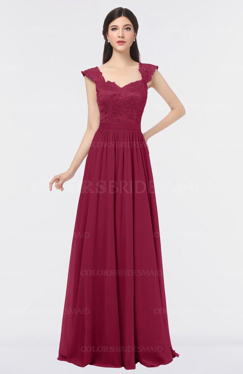 ColsBM Heidi Burgundy Bridesmaid Dresses - ColorsBridesmaid