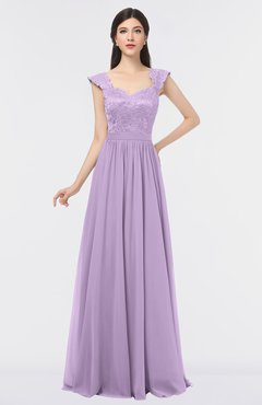ColsBM Heidi Lavendula Elegant A-line Square Sleeveless Lace Bridesmaid Dresses