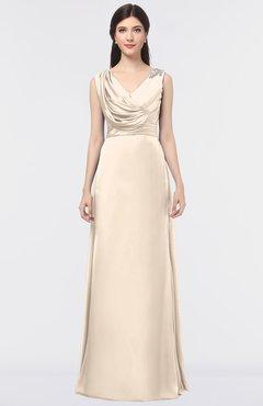 6505d68ebf ColsBM Jocelyn Linen Elegant A-line V-neck Zip up Floor Length Appliques  Bridesmaid