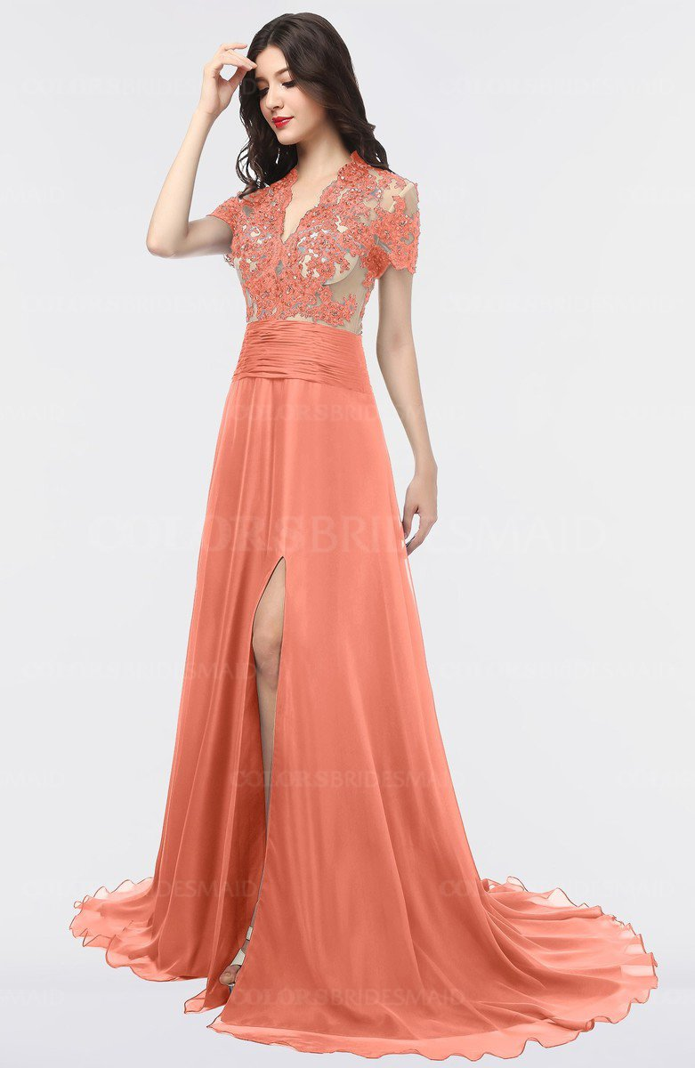 ColsBM Eliza Persimmon Orange Bridesmaid Dresses - ColorsBridesmaid