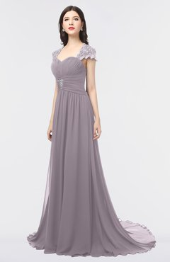 ColsBM Iris Cameo Mature A-line Sweetheart Short Sleeve Zip up Sweep Train Bridesmaid Dresses