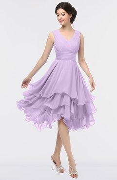 ColsBM Grace Lavendula Elegant V-neck Sleeveless Zip up Ruching Bridesmaid Dresses