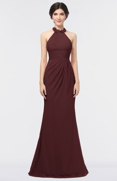 ColsBM Miranda Burgundy Antique Halter Sleeveless Zip up Floor Length Bridesmaid Dresses
