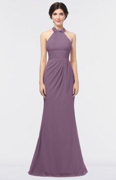 ColsBM Miranda Mauve Antique Halter Sleeveless Zip up Floor Length Bridesmaid Dresses