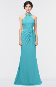 70ed0a7193c Turquoise · ColsBM Miranda Coral Antique Halter Sleeveless Zip up Floor  Length Bridesmaid Dresses