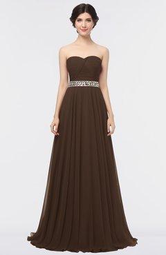 fbcd961160da ColsBM Zahra Copper Elegant A-line Strapless Sleeveless Half Backless  Bridesmaid Dresses