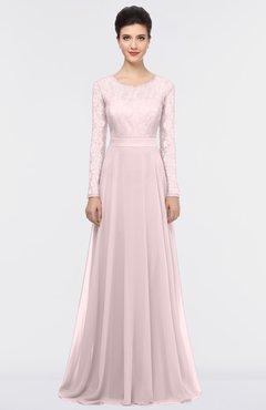 ColsBM Shelly Blush Romantic A-line Long Sleeve Floor Length Lace Bridesmaid Dresses