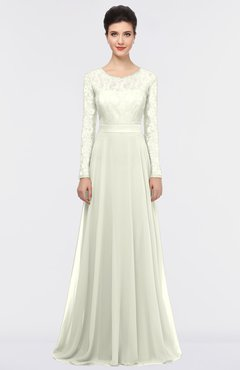 ColsBM Shelly Ivory Romantic A-line Long Sleeve Floor Length Lace Bridesmaid Dresses