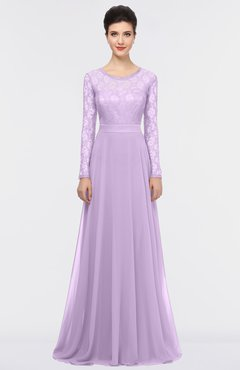 ColsBM Shelly Lavendula Romantic A-line Long Sleeve Floor Length Lace Bridesmaid Dresses