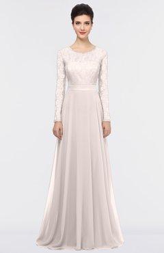 ColsBM Shelly Light Pink Romantic A-line Long Sleeve Floor Length Lace Bridesmaid Dresses