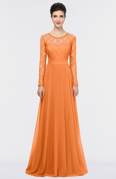 ColsBM Shelly Mango Romantic A-line Long Sleeve Floor Length Lace Bridesmaid Dresses
