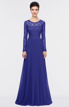 ColsBM Shelly Purple Romantic A-line Long Sleeve Floor Length Lace Bridesmaid Dresses
