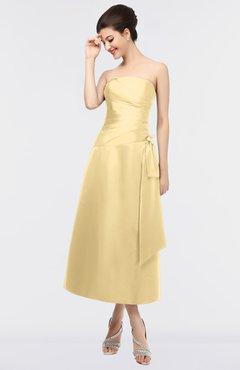 e6a4662b08a ColsBM Isabella Light Yellow Elegant A-line Bateau Sleeveless Zip up Ruching  Evening Dresses
