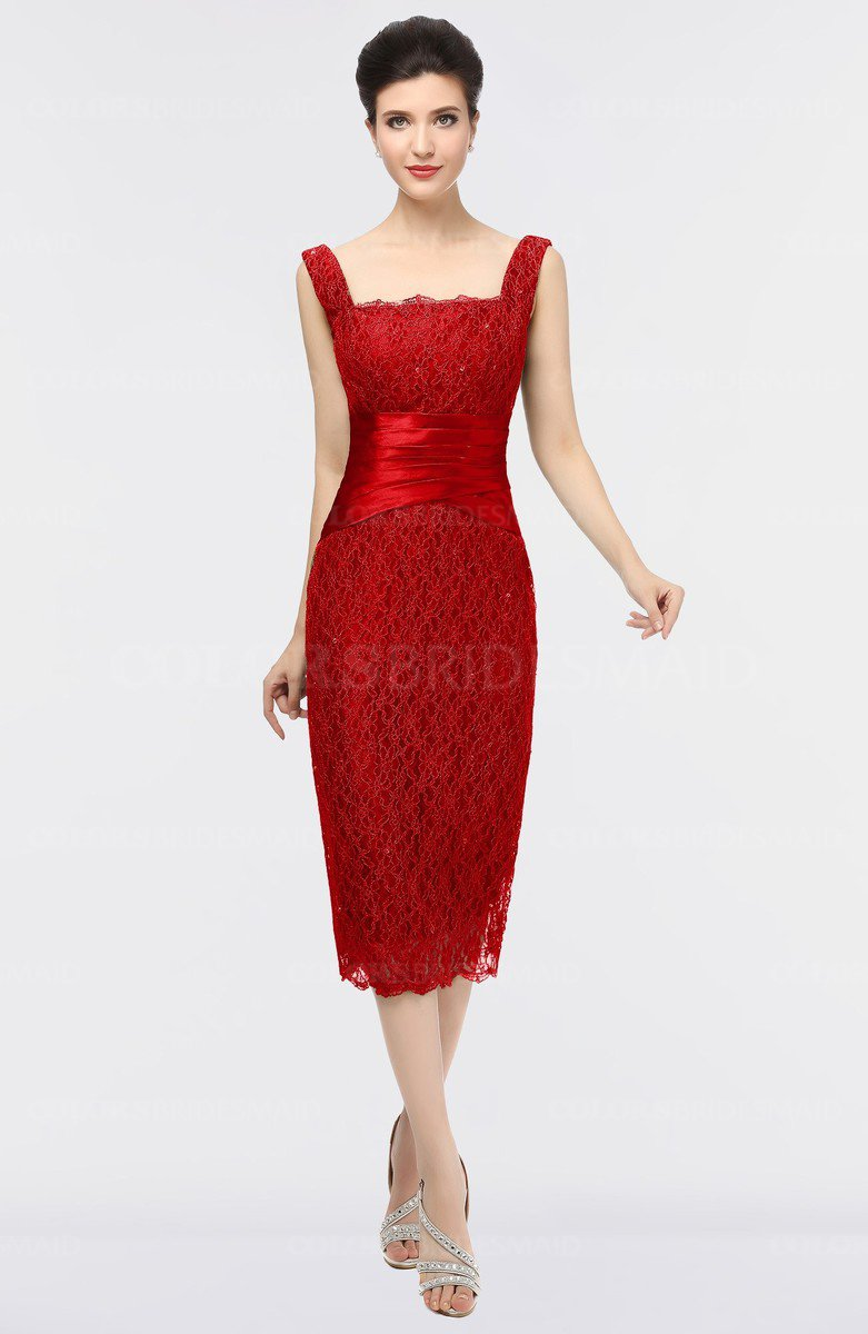 6400a8b8299a ColsBM Colette Red Mature Column Sleeveless Zip up Lace Bridesmaid Dresses