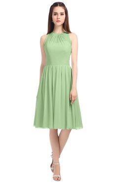 ColsBM Ivory Gleam Elegant A-line Jewel Zip up Knee Length Bridesmaid Dresses