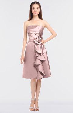 acd3ebde7d5a0 ColsBM Elora Blush Pink Glamorous Sleeveless Zip up Knee Length Flower Bridesmaid  Dresses