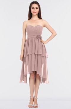 4dcc8c60f7b ColsBM Sharon Blush Pink Elegant A-line Strapless Sleeveless Zip up Knee  Length Bridesmaid Dresses