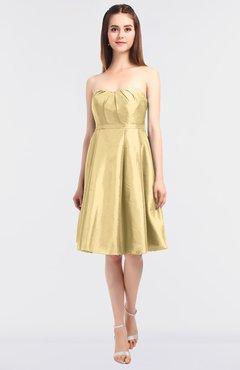 92a70482675 ColsBM Zaria Light Yellow Mature Strapless Zip up Knee Length Bow  Bridesmaid Dresses