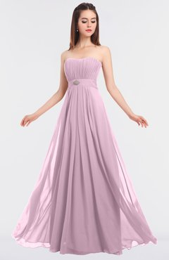 ColsBM Claire Baby Pink Elegant A-line Strapless Sleeveless Appliques Bridesmaid Dresses
