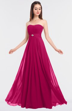 ColsBM Claire Beetroot Purple Elegant A-line Strapless Sleeveless Appliques Bridesmaid Dresses