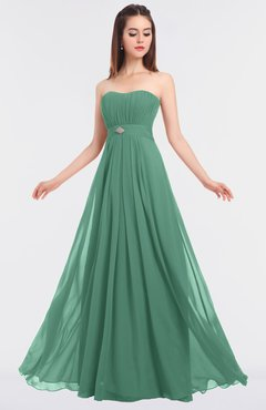 ColsBM Claire Beryl Green Elegant A-line Strapless Sleeveless Appliques Bridesmaid Dresses