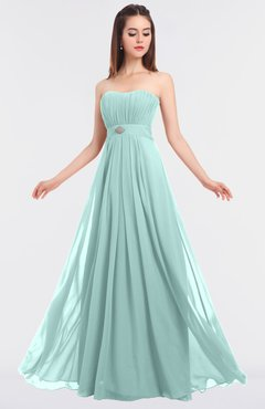 ColsBM Claire Blue Glass Elegant A-line Strapless Sleeveless Appliques Bridesmaid Dresses