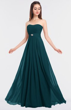 ColsBM Claire Blue Green Elegant A-line Strapless Sleeveless Appliques Bridesmaid Dresses