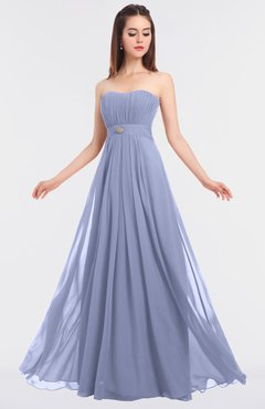 ColsBM Claire Blue Heron Elegant A-line Strapless Sleeveless Appliques Bridesmaid Dresses