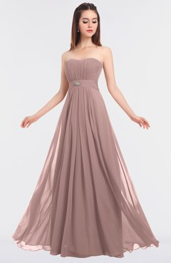 ColsBM Claire Blush Pink Elegant A-line Strapless Sleeveless Appliques Bridesmaid Dresses