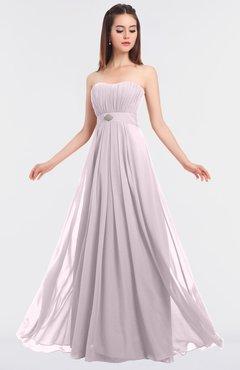 ColsBM Claire Blush Elegant A-line Strapless Sleeveless Appliques Bridesmaid Dresses