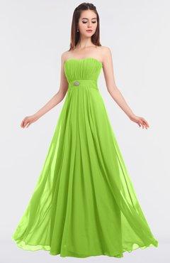 ColsBM Claire Bright Green Elegant A-line Strapless Sleeveless Appliques Bridesmaid Dresses