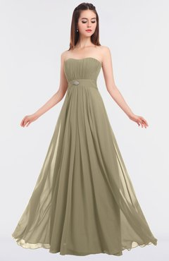 ColsBM Claire Candied Ginger Elegant A-line Strapless Sleeveless Appliques Bridesmaid Dresses