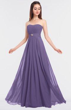 ColsBM Claire Chalk Violet Elegant A-line Strapless Sleeveless Appliques Bridesmaid Dresses