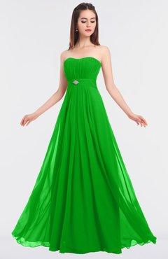 ColsBM Claire Classic Green Elegant A-line Strapless Sleeveless Appliques Bridesmaid Dresses