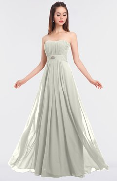 ColsBM Claire Cream Elegant A-line Strapless Sleeveless Appliques Bridesmaid Dresses