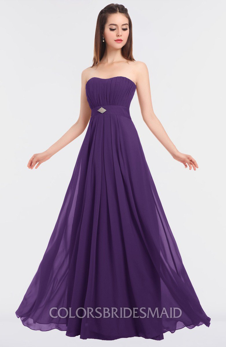 3a9dc57539340 Colsbm Claire Dark Purple Bridesmaid Dresses Colorsbridesmaid. Dark Purple Bridesmaid  Dress Modest A Line Sweetheart Chiffon Floor Length ...